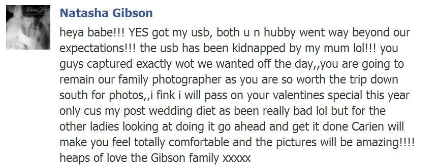 Testimonial Natasha Gibson